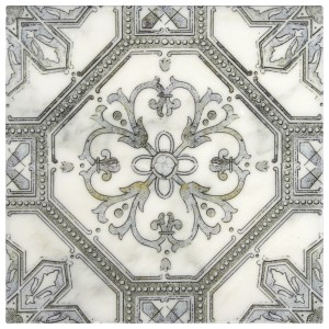 luxury decorative backsplash tile designer patterned tile 6x6 12x12 8x8 4x4 3x6 listellos accents decos art kitchen bath fireplace wetbar hand-crafted pre-sealed