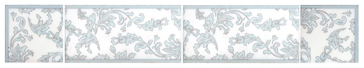 leady listello patterned tile leaves leaf vine viney accents stone tile decorative designer designs patterns patterned