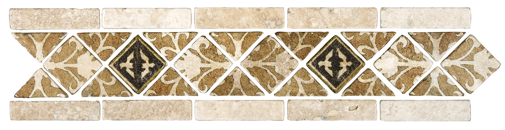 Amaretti Deco Strip - Earth - Available only on 5x20 Mesh-mounted stone