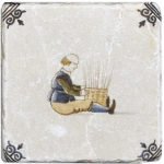 Delft Basket Weaving <br> Shown on Botticino