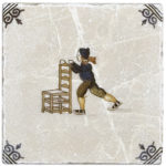 Delft Chair Skating <br> Shown on Botticino