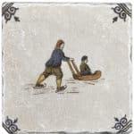 Delft Sleigh Ride <br> Shown on Botticino