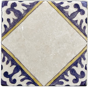 Delft Outdoor Blank <br> Shown on Botticino