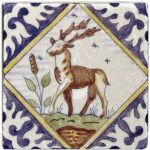 blue holland Delft decorative tiles for backsplash custom sizing and stone types natural stone 3x3 4x4 6x6 antelope