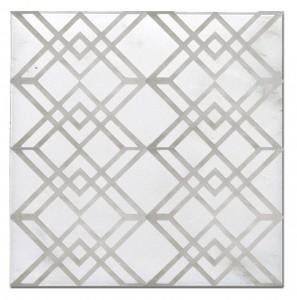 geometric pattern tiles designs designer luxury on natural stone accents decos art limestone carrara marble kitchen bathroom tub fireplace floor wall 6x6 12x12 custom tumbled straight-edged