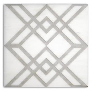geometric pattern tiles designs ideas luxury decorative stone accents decos limestone carrara marble thassos durangoi travertine tumbled straight-edged geometrical artwork pre-sealed and ready to install