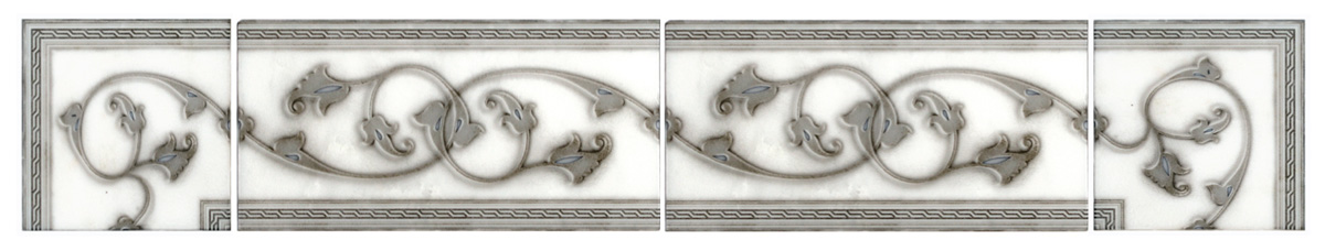 sophisticated elegant bathroom tile inspiration inspired carrara carera carara limestone listellos thassos 3x6 6x12 subway tile bath floor tub wainscot wainscoting shower walls powder room girly feminine fancy luxurious high end
