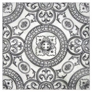 Heirloom Grey <br> Shown on Carrara <br> <em> Showing full pattern on 1 tile
