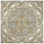 antique patterned backsplash tile kitchen wall above stove top range tumbled durango straight-edged limestone vintage designs and patterns pre-sealed and ready to install