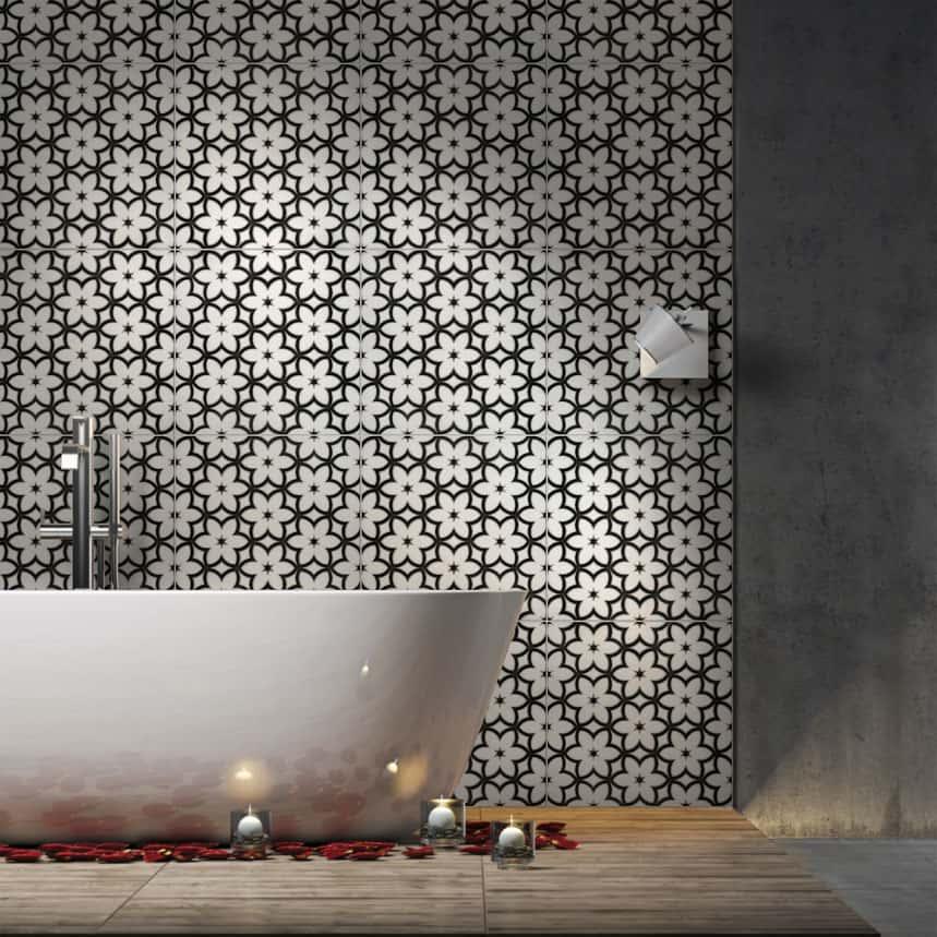 wallflowers collection on thassos bathroom installation