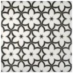 flower patterned tile designs on natural stone accents decos art decoratives limestone carrara marble botticino durango travertine custom made to order