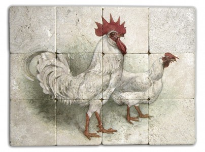 rooster wall mural unique tile murals natural stone designs and patterns limestone travertine marble