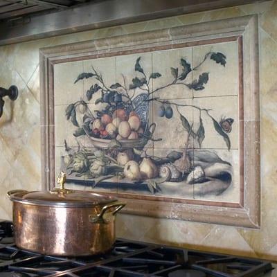 unique custom decorative tile natural stone murals patterns designs ideas custom tile design