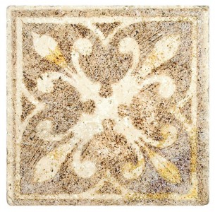 old world designer tile luxury made to order on stone custom beautiful unique spanish mediterannean turkish antiqued faded 6x6 12x12 8x8 3x3 2x2 accents medallions