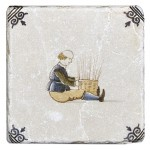 Delft Basket Weaving Accent