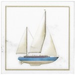Blue Sailboat Accent