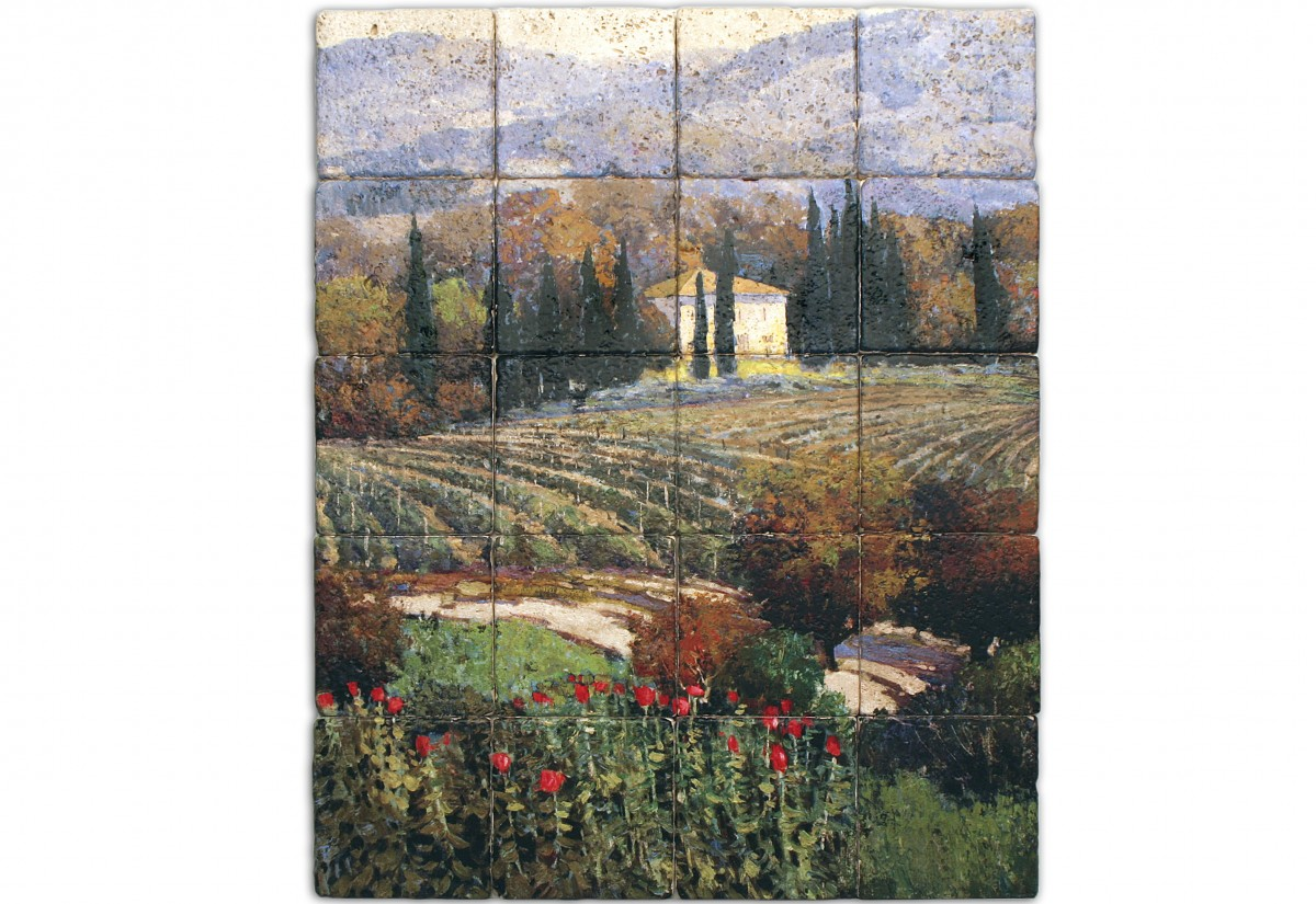 landscape murals genuine stone tiles any size