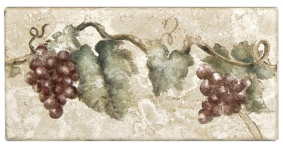 rustic grapevine accent tiles and listellos for kitchen or wine cellar or room hand-crafted unique one of a kind designer luxury high-end boutique