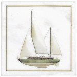 Green Sailboat Accent