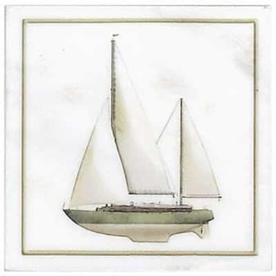 Green Sailboat Accent