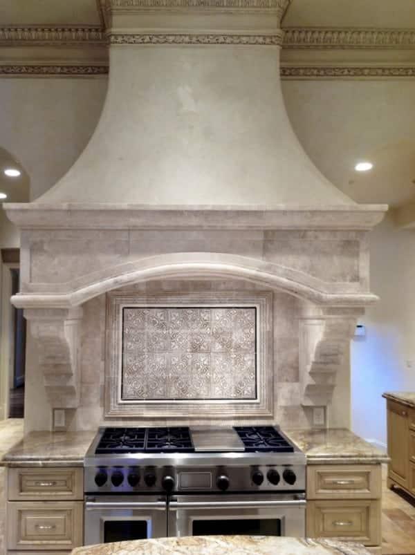 Labyrinth kitchen backsplash MCA