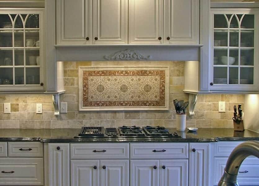 Kitchen Backsplash Design Ideas | Marseille Red white kitchen