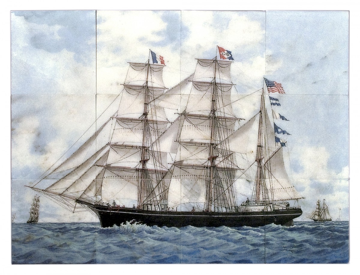 sailboat murals tallships nautical ocean made to order custom murals
