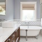 bathroom design ideas thassos marble carrara 6x6 12x12 3x3 8x8 backsplash tub surround walls shower wainscot limestone accents decos listellos decorative designer patterned inspiration inspired