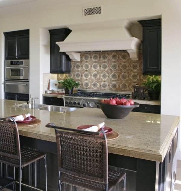 rustic kitchen backsplash design ideas holland designs old world traditional vintage stove top range