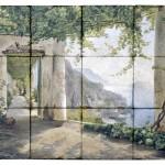 italian scene tile mural landscape murals for kitchen on natural stone