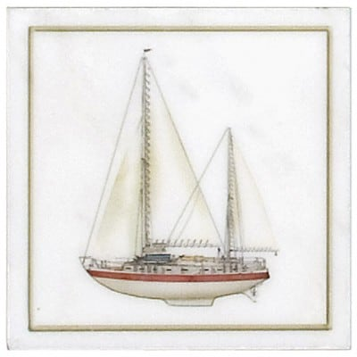 Red Sailboat Accent