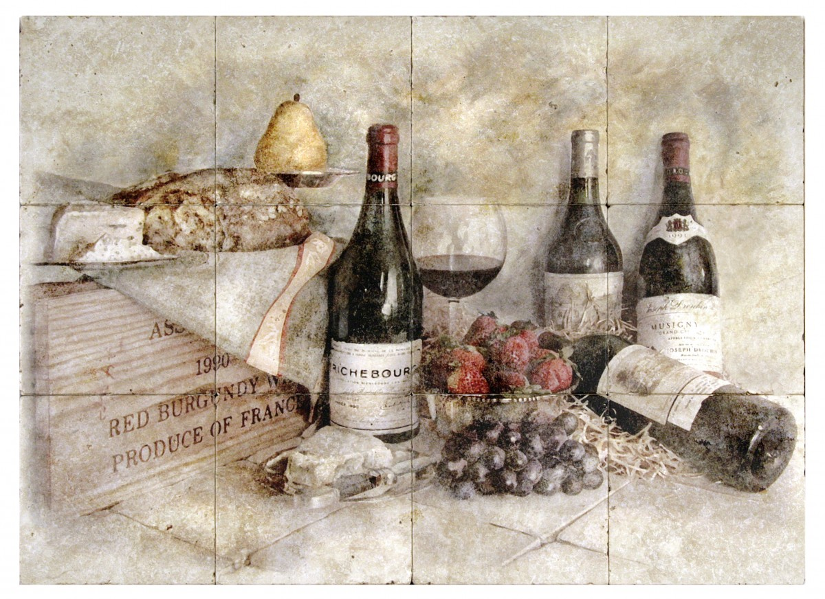 stone tile wine murals for kitchen backsplash on your choice of stone including travertine limestone durango rustic vintage tumbled or straight edge