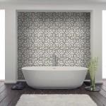 bathroom design ideas murals patterned tiles designer decos and accents limestone carrara marble wainscoting tub surround shower walls powder room floor flooring