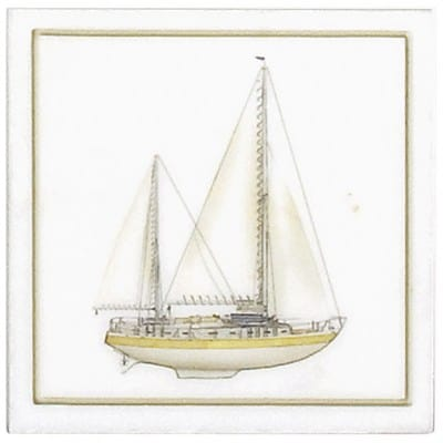 Yellow Sailboat Accent