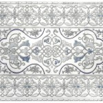 prim solo pattern mural on natural stone