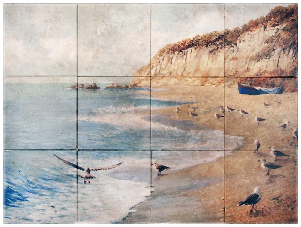 nautical tile murals sailboats natural genuine stone ocean pictures