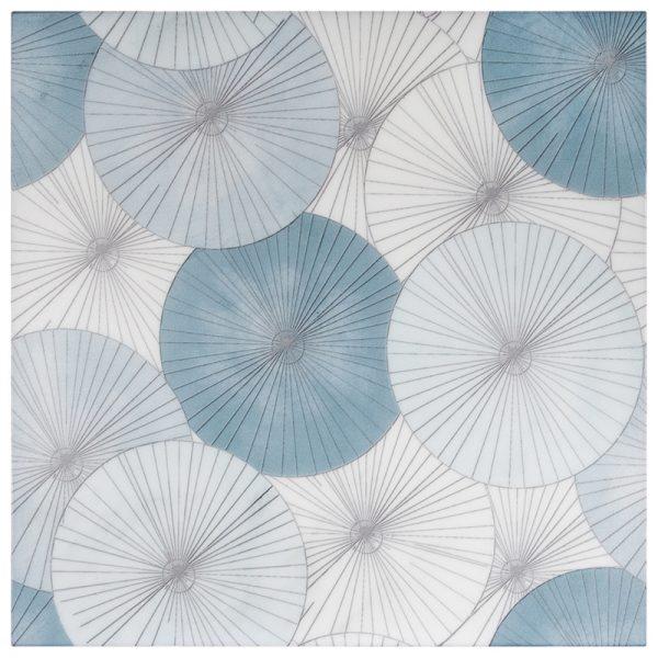 Parasol Teal Carrara
