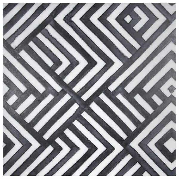 Black & White Tile Designs featuring Carrara Marble