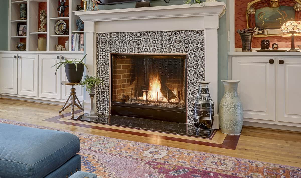 The VDD13 Pattern shown as a Fireplace surround designed by Big Sky Design