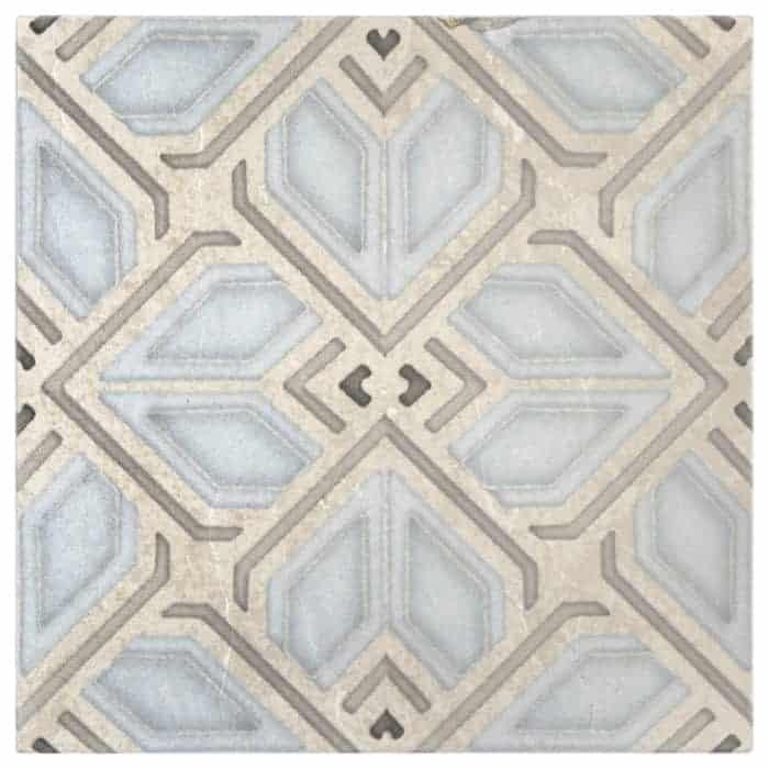 Avery Grande Pattern (Sky) on Limestone