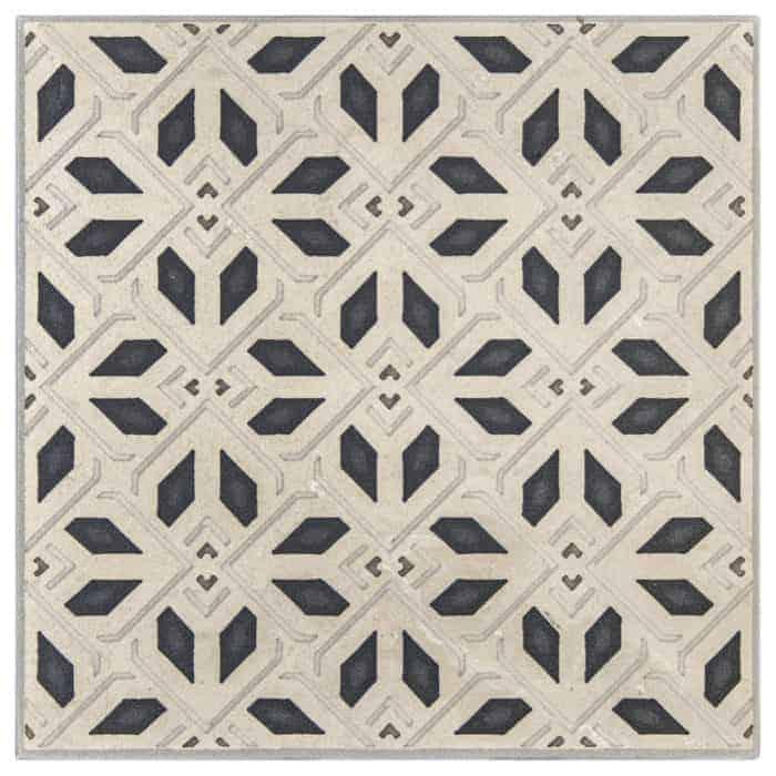Avery Petite Pattern (Charcoal) on Limestone