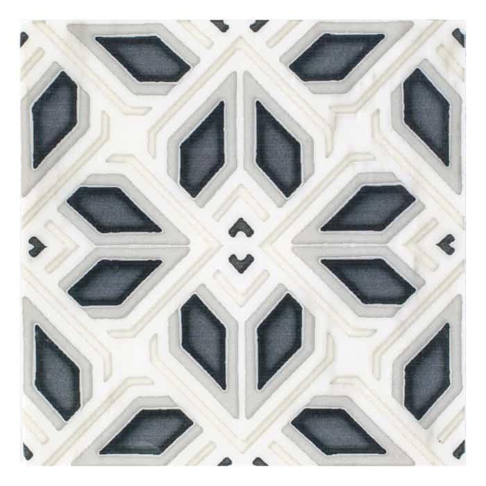 Avery Grand Pattern (Charcoal) on Carrara