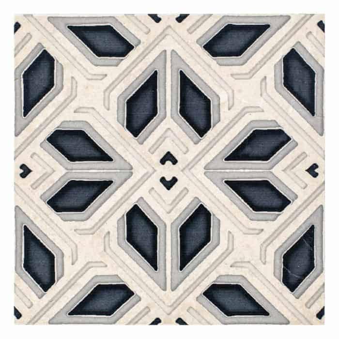 Avery Grand Pattern (Charcoal) on Limestone