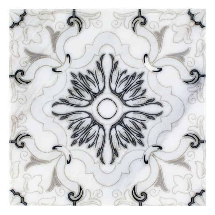Dulcet Pattern (Black) on Carrara