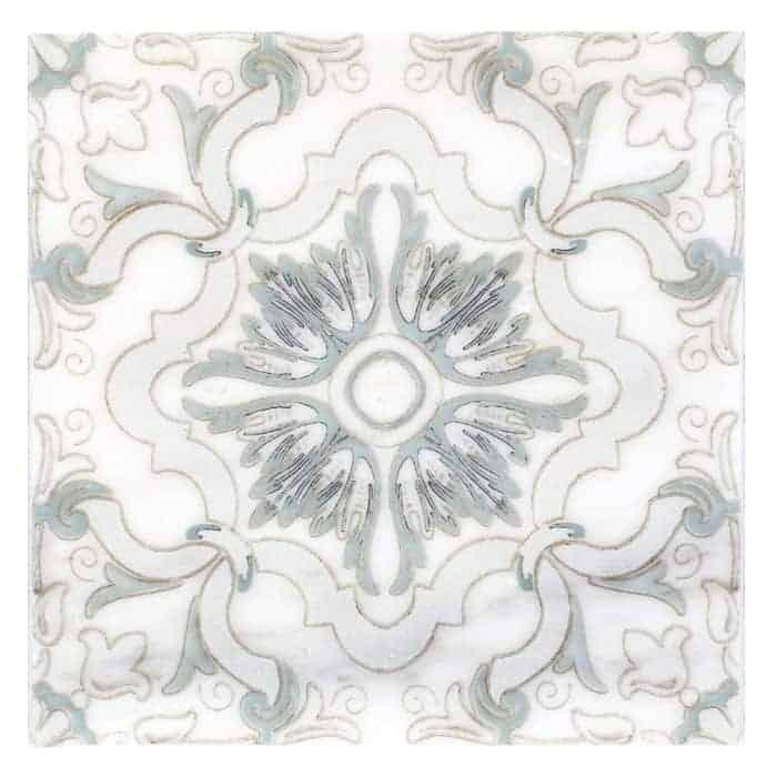 Dulcet Pattern (Seafoam) on Carrara