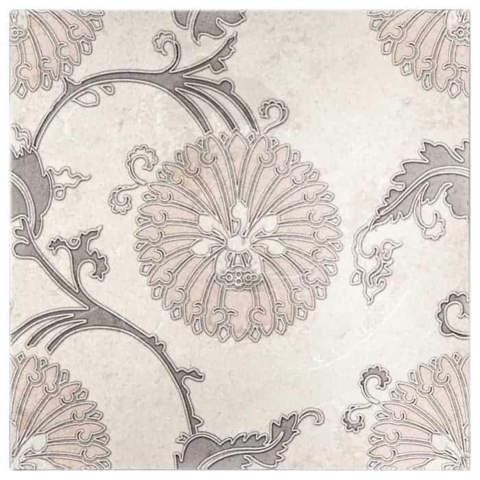 Eliana Pattern (Pink Grey) on Limestone
