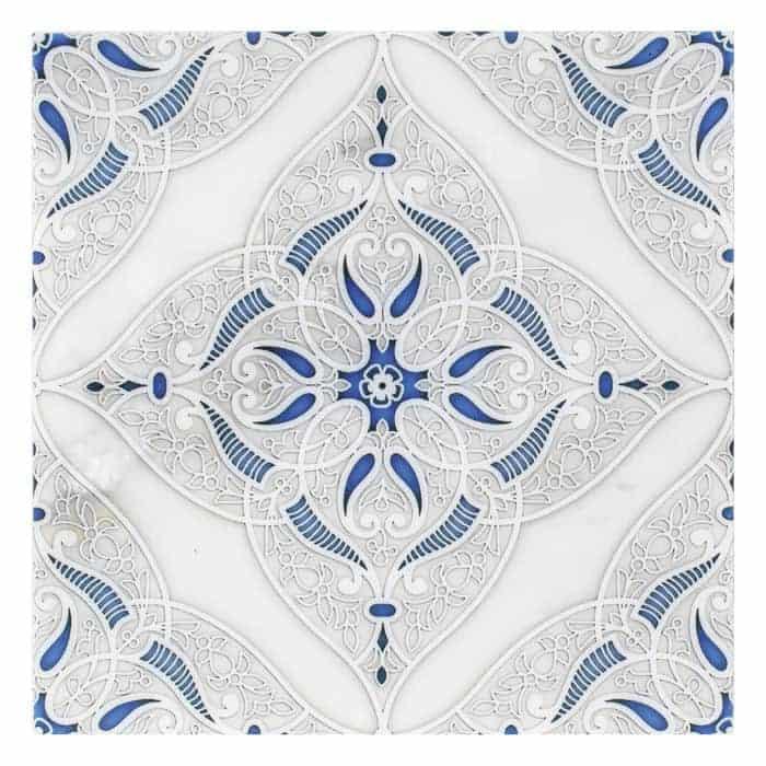 Granada Pattern (Sapphire) on Carrara