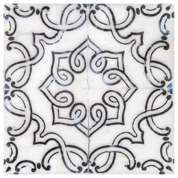 Lennox Pattern (Black Opal) on Carrara