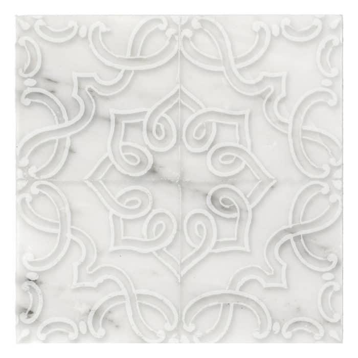 Lennox Pattern (Lace) on Carrara