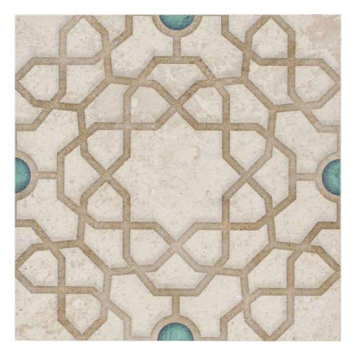 Medina Pattern (Turquoise) on Limestone